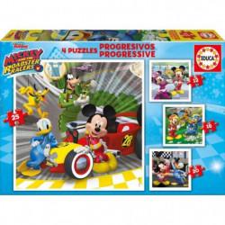 MICKEY Puzzle Progressif Mickey Top Départ (12-16-20-25 Pcs)