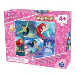 CARDINAL DISNEY PRINCESSES Puzzle Bois 1 Modele Spinmaster