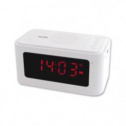 INOVALLEY RV17BTHW Radio Réveil Bluetooth - Blanc