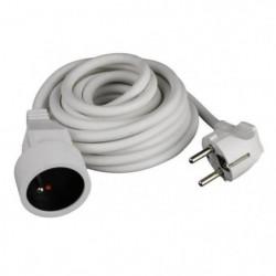 ZENITECH Rallonge électrique 3m 3x1,5mm² blanc