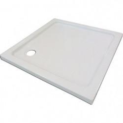 AQUA+ Receveur de douche carré à poser Yqua - 80 x 80 x 5 cm