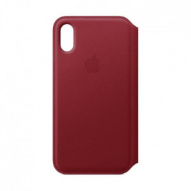 Étui folio en cuir pour iPhoneXS - (PRODUCT)RED