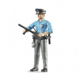 BRUDER - Policier de couleur avec accessoires