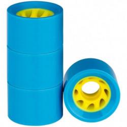 NIJDAM Roues pour mini skate plastique - Bleu