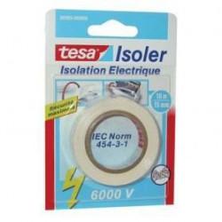 TESA  Ruban Adhésif Isolation électrique - 10m x 15mm - Blan