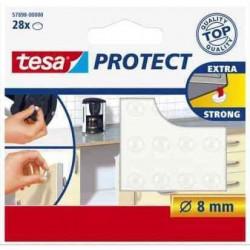 TESA Pastilles antiglisse et antibruit - Ø 8mm - Transparent