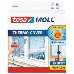 TESA Film de survitrage Thermo Cover - 4 m x 1.50 m - Transp