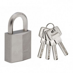 MASTERLOCK Cadenas laiton nickel 40mm  anse hexagonale