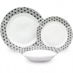 Service de Table 18 pièces en porcelaine formes géométriques