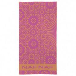 NAF NAF Drap de plage BAHIA - 100% Coton - Rose - 80 x 160 c