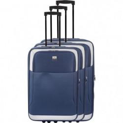 FRANCE BAG - Set de 3 valises extensibles 2 roues - Marine
