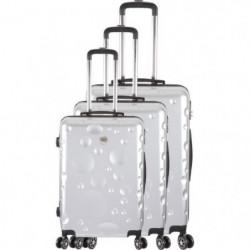 FRANCE BAG Set de 3 Valises 8 roues abs/polycarbonate Argent