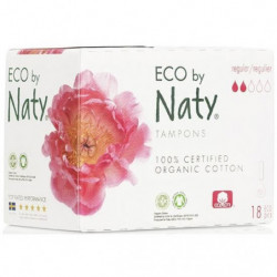 NATY Tampons sans applicateur Normal - Lot de 18