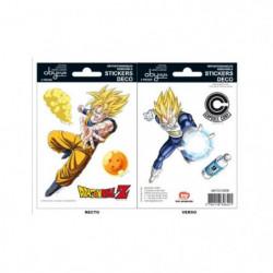 Stickers Dragon Ball - 16x11cm  / 2 planches - DBZ  / Goku-V
