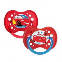 DODIE 2 Sucettes anatomiques Duo A69 - 18 mois+ - Disney Car