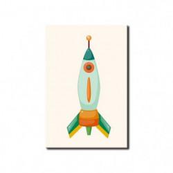SPACE Tableau imprimé fusée 50x80cm - Espace