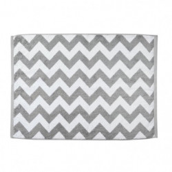 DONE Tapis de bain Diamond - 50x70 cm - Argent et blanc