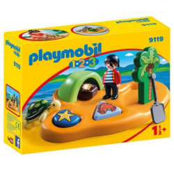PLAYMOBIL 1.2.3 - 9119 - Île de Pirate