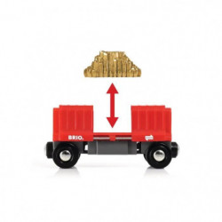 BRIO World - 33838 - Wagon Cargo Rouge