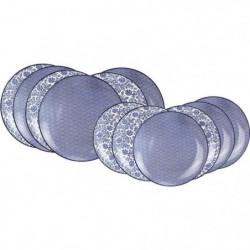 ARD'TIME EC-BL12AS Service de table 12 pieces china blue