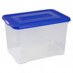 ALLIBERT Boîte de rangement Handy - Avec couvercle bleu - 65L