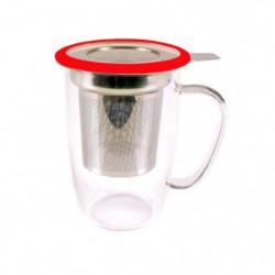 YOKO DESIGN Mug tastea en verre avec filtre inox coupelle 91645