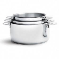 DE BUYER - 3491.03 - Lot 3 casseroles - FAITOUTS TWISTY