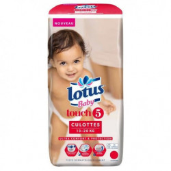 LOTUS BABY Touch Culottes Taille 5 - De 13 a 20 kg - 36 culottes
