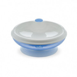 NUVITA Assiette bébé thermique avec ventouse - Bleu
