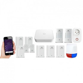 NEW DEAL Pack Alarme maison LAN / WIFI / GSM Live