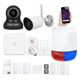 NEW DEAL Pack Alarme maison LAN / WIFI / GSM Live 2983