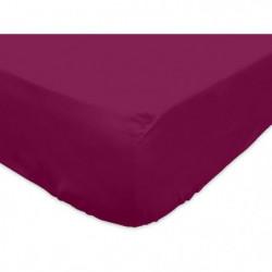 SOLEIL d'OCRE Drap housse 100% Coton 180x200 cm Cassis