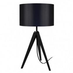 IDUN Lampe a poser en bois noir - Ø30 x H.56 cm