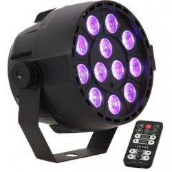 IBIZA PAR-MINI-RGB3 Projeteur PAR à LED 12x3W RVB 3-en-1
