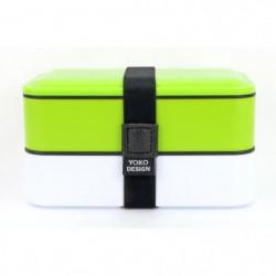 YOKO DESIGN Lunch box 2 étages - Coloris vert - 1200 ml