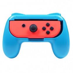 2 Grips manette pour Joy-Cons Nintendo Switch rouge et bleu