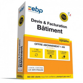 EBP Devis et facturation Btiment DYNAMIC 12 mois