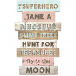 TANUKI Panneaux en bois décoratif - Be à Super Hero