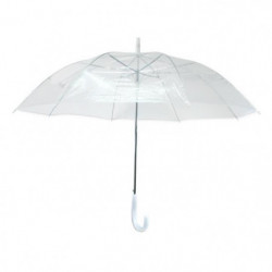 KINSTON Parapluie Canne - Automatique - Transparent