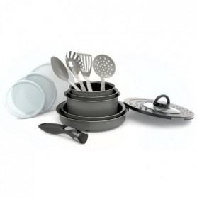Set 14 pieces + poignée amovible gris