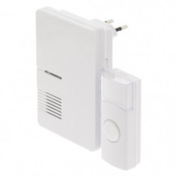 KONIG Sonnette sans fil alimentation secteur 70 dB blanc