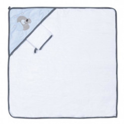 NATTOU - Sam&Toby Cape de bain + Gant 75x75cm
