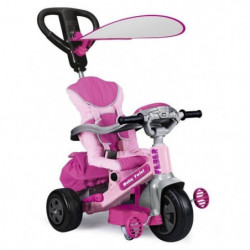 FEBER - Tricycle Evolutif Baby Twist 360° 10 Pouces - Rose