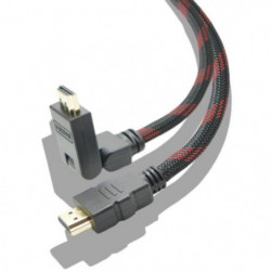 Cable HDMI 4K High Speed Articulé de 2M Multi-Support