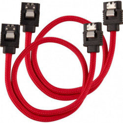 CORSAIR Câble gainé Premium SATA 6Gbps Rouge 30cm Droit