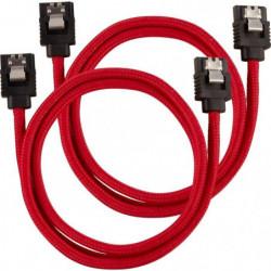 CORSAIR Câble gainé Premium SATA 6Gbps Rouge - 60cm Droit