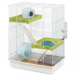FERPLAST Cage Hamster Tris - 46x29x58 cm - Blanc