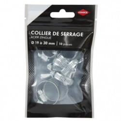 COGEX Colliers de serrage acier zingue - ø 19 à 30 mm