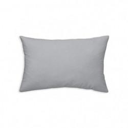 TODAY Coussin déhoussable 100% coton - 30 x 50 cm - Zinc