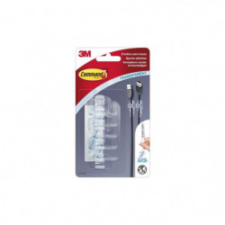 3M COMMAND Clip câble clear - Transparent - Petit modele